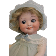 Adorable 12 inch German Bisque AM 323 Googly Character Doll by Armand Marseille 1915