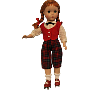 "14 inch Madame Alexander Hard Plastic Maggie Face ""Kathy"" Roller skater Red Hair"