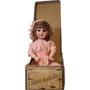 12 inch Dep Jumeau Bebe Doll Habille Made for the French Market, In Box orig Clothes