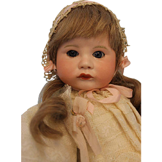 15 inch Antique SFBJ 252 Pouty Toddler French Bisque Doll c.1910 Adorably Dressed