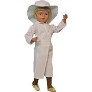 19 Inch Schoenhut 405 Boy with All orig paint to face SCHOENHUT clothes shoes socks wig
