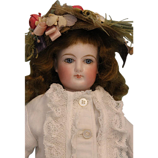 13 inch Beautiful Antique French Fashion Doll FG by Francois Gaultier Size 1 c.1880