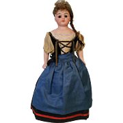 12 inch Antique German Bisque Simon & Halbig 950 doll Orig Ethnic Costume 1900