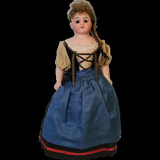 12 inch Antique German Bisque Simon & Halbig 950 doll Orig Ethnic Costume 1900