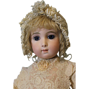 "Antique 24 inch Bebe Jumeau Emile Jumeau Model ""Bebe Triste"" Long Face ca.1879-1886"