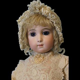 "Antique 24 inch Bebe Jumeau Emile Jumeau Model ""Bebe Triste"" Long Face ca.1879-1886"