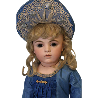 19 inch Antique French Bisque Bru Jne 7 Bisque Doll Fabulous Costume Bru Shoes c1883