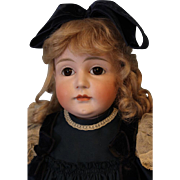 "23 inch  Antique German Bisque Beautiful Kestner Shoulderhead Doll Marked ""12"" c.1880"