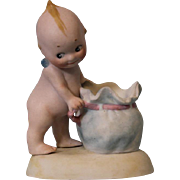 4.5 inch Very Rare Rose O'Neill Kewpie Figurine with Candy Container Sack c.1913