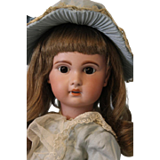 Antique 22 inch Jumeau 1907 Size 10 French Bisque Doll w Walking Mechanism BlowsKiss
