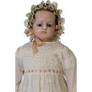 Antique 24 inch English Poured Wax Doll Attributed To Montanari Ca.1890