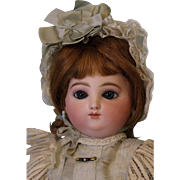 17 inch Antique Round face Jules Nicholas Steiner Doll Marked pull string mama papa body Antique Clothes circa 1870-1880