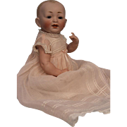 "11 inch Large All Bisque Baby Doll by Kestner Marked ""7"" circa 1920 Crown Label"