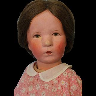 """20 inch Kathe Kruse Doll Type VIII """"Deutsches Kind"""" German Child 1929-1948 HH wig"""