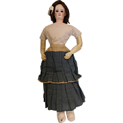 26 inch Grand Size K, Antique Bru Smiling Empress Eugenie French Fashion Doll c1873