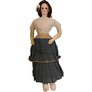 26 inch Grand Size K, Antique Bru Smiling Empress Eugenie French Fashion Doll c1873