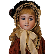 Antique 22 inch SFBJ 230 French Character doll Human Hair Wig No Damage Cork Pate circa 1910