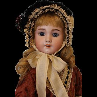 Antique 22 inch SFBJ 230 French Character doll Human Hair Wig No Damage Cork Pate circa 1910