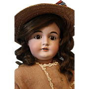 Charming Antique 27 inch German Bisque 164 Kestner Child Doll c.1898 made in Germany