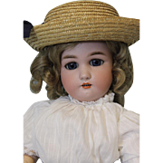 Antique 18 Inch German Bisque doll 1349 Dressel by Simon and Halbig 1906 Rare!!