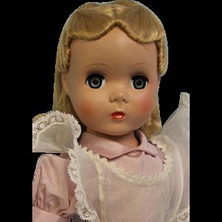 "17"" Madame Alexander Alice In Wonderland tagged hard plastic Maggie Face c. 1949"