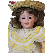 11 inch Antique Gebruder Heubach Doll Glass Eyed Laughing German Bisque Character