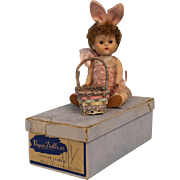 8 inch Auburn Poodle Cut painted Lash Vogue bowed baby leg Ginny Doll in Bunny Suit & Original box