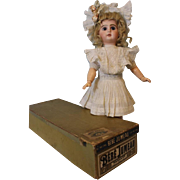 Antique 17 inch Tete Bebe Jumeau French Bisque Doll in ORIGINAL BOX & Clothes Size 7