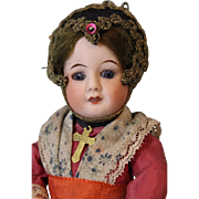 7.5 inch tall SFBJ 60 Antique Unis France French Bisque Doll all Orig, Dress, wig