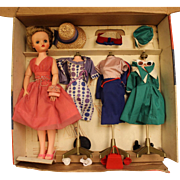 Deluxe Reading 21 inch Candy Fashion 1 Doll w/Orig Outfits, Stands, and Box 1960's