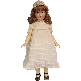 26 inch Mein Liebling K*R 117 German antique bisque character doll Wig covers repair