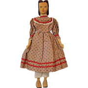 10 inch Helen Bullard Miss Holly Doll Carved Wood jointed artist doll