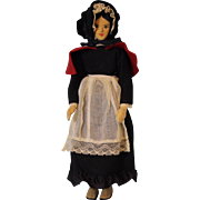 10 inch Helen Bullard Notion Nanny Hand carved wood artist doll Tagged Holly Dolls