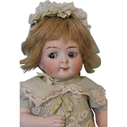 Large 7.5 inch Antique Doll All Bisque Googly 218 Watermelon Mouth Hertel and Schwab