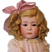 15.5 inch Gebruder Heubach 6969 Pouty Character Doll c.1912 German Bisque Sleep Eyes