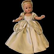 14 inch  Madame Alexander Hard Plastic Cinderella Margaret face 1950-1951 Gorgeous!
