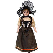 Antique 8 inch Simon & Halbig 950 German Bisque Doll Original Costume Sleep Eye 1900