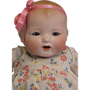 15 inch Baby Gloria German by AM Bisque solid dome head & Blue glass sleep eyes