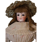 16 Inch Antique French Fashion Doll Size 5 FG Francois Gaultier Old Dress WOW!