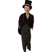 14 inch RARE French Gentleman By Damerval & Laffranchy w. Sculpted Mustache VeryCool