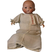 Antique 11 Inch Armand Marseille Kiddiejoy Doll Original Outfit Sleep Eyes c1900