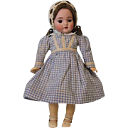 12 inch Antique German Bisque Kestner #143 Character Doll Cute Cabinet Size