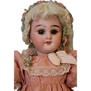 11 inch Antique Simon & Halbig 749 DEP German Bisque Doll on Wood and Composition