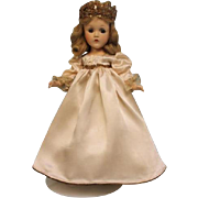 14 Inch Composition Princess Elizabeth Doll Madame Alexander c.1937 Tagged