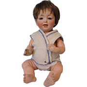 13 inch Antique Kestner 211 baby doll Blue sleep eyes Orig body Plaster pate