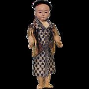 16 inch German Japanese Ichimatsu Doll, Blue eyes, jointed arms, legs & swivel head