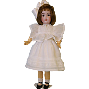 20 inch Antique 171 Kestner antique doll, in white Dress, slip, Pantaloons & Sox