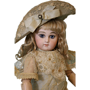 13. inch Second Series Portrait French Jumeau Antique Doll size 5 Ca 1880 Fab Dress