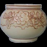 Small English Victorian Thomas Webb Cameo Glass Vase Antique, circa 1890