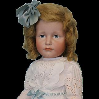 """19 Inch German Bisque K * R """"Gretchen"""" 114 Character Doll Kammer & Reinhardt"""